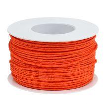 Papierkordel Draht umwickelt Ø2mm 100m Orange
