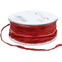 Papierkordel Rot ohne Draht Ø3mm 40m