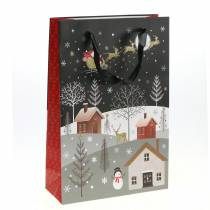 Geschenktüte Papiertasche Weihnachtsdorf H30cm 2St