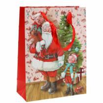 """Geschenktüte Papiertasche """"Weihnachtsmann"""" H24cm"""