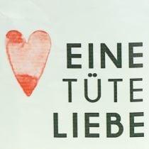 """Geschenktüte """"Eine Tüte Liebe""""  H24cm"""