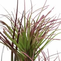 Zypergras im Topf künstlich Grün, Rotlila 45cm