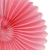 Party-Deko Wabenpapier Blume Rosa Ø20cm 3St