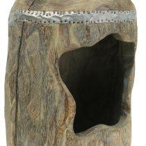 Deko Skulptur Paulownia Holz  Ø15cm H39cm