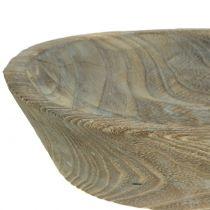 Dekoschale Paulownia Holz Oval 44cm x 19cm H8cm