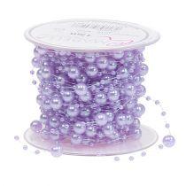 Perlenband Lila 6mm 15m