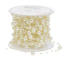 Perlenkette Creme 6mm 15m