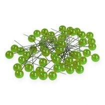 Perlkopfnadeln Apfelgrün Ø10mm 60mm