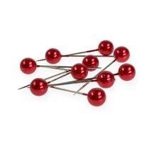 Perlkopfnadeln Rot Ø15mm 75mm