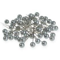 Perlkopfnadeln Silber Ø10mm 60mm