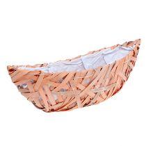 Pflanz-Schiffchen Orange 37cm x 13cm H13,5cm