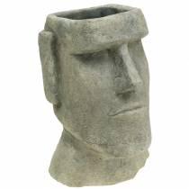 Pflanzkopf Moai Büste Grau H28cm
