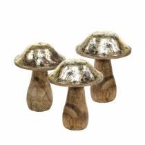 Holzpilz Golden, Natur Mangoholz Ø7–7,6cm H8,5–9,5cm 4St