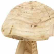 Pilz Paulownia Holz Ø16cm H18cm