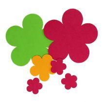 Platzdecke Filzblume mehrfarbig 6St