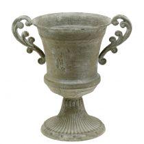 Antik Pokal Grau Ø16,8cm H24,8cm