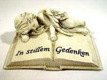 Polystonebuch mit Engel 17x13,5cm liegend 2St