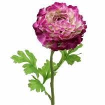Ranunkel Violett künstlich 48cm