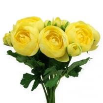 Seidenblumen Ranunkelstrauß  Gelb 30cm