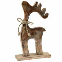 Weihnachtsdeko Dekofigur Rentier Holz 25cm