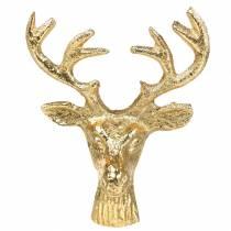 Weihnachtsdeko Hirschkopf Metall Golden 6,8cm 6St