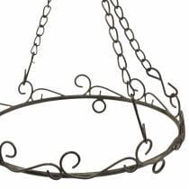 Deko-Ring mit Haken zum Hängen Rostbraun Ø20,5cm