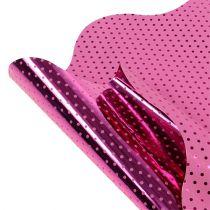 Rondella-Manschette mit Punkten Pink Ø40cm 50St