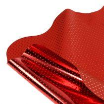 Rondella mit Punkten Metallic Rot Ø50cm 50St