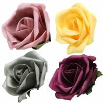 Foam Rose Ø15cm verschiedene Farben 4St