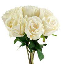 Rose künstlich Creme Ø8cm L45cm 6St