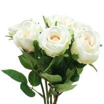 Rose Crème 44cm 6St