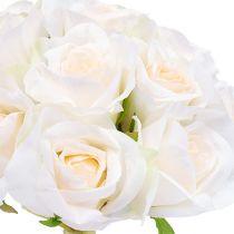 Rosenbukett Weiß Ø26cm