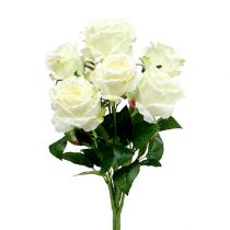 Rosenstrauß Weiß, Creme 55cm