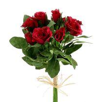 Rosenstrauß mit Minirosen Ø3cm rot L26cm 3St