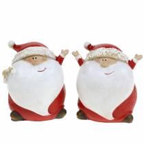 Weihnachtsdeko Weihnachtsmann Dekofigur 7,5cm 2St