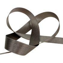 Satinband mit Glimmer Grau 25mm 20m