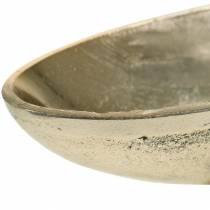 Schale oval mit Fuß Golden 20,5×8cm