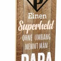 Deko Schild Superheld Papa zum Hängen 20cm 2St