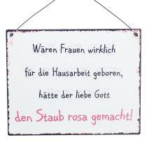 """Schild zum Aufhängen """"Hausarbeit"""" 24cm x 19cm 3St"""