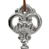Schlüssel Silber zum Hängen 15,5cm 2St