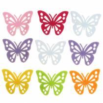 Filzschmetterling Tischdekoration Sortiert 3,5×4,5cm 54 Stück Verschiedene Farben