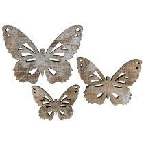 Schmetterling 3-5cm Natur-Weiß 22St