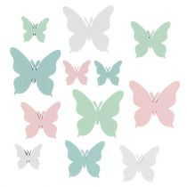 Schmetterling 3cm - 5,5cm Pastell Mix 36St