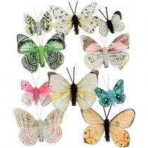 Deko Schmetterling am Clip sortiert 5cm - 8cm  10St