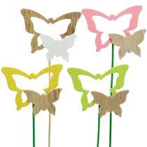Dekostecker Schmetterling farblich sortiert H24cm 24St