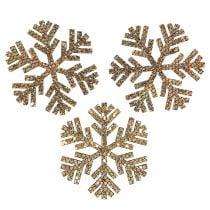 Schneeflocke Gold Weihnachtsdeko Ø4cm 48St