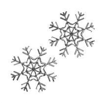 Schneeflocke Silber 10cm 3St