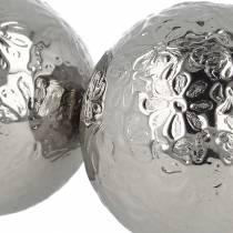 Schwimmkugel Blüten Silbern Metall Ø5,5cm Sortiert 6St