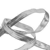 Geschenkband Silber mit Drahtkante 15mm 25m