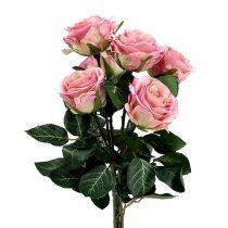 Seidenblumen Rose Ø7cm L37cm altrosa 6St